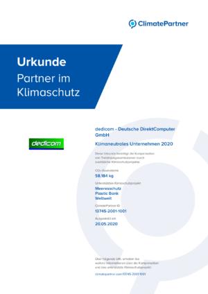 ClimatePartner-Urkunde